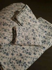white and blue floral zip-up hoodie Sherwood Park