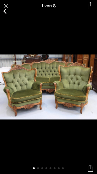 Olivgrünes Chesterfield-Sofa-Set Berlin, Niemcy