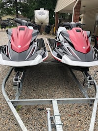2 2018 yamaha wave runners with dual trailer