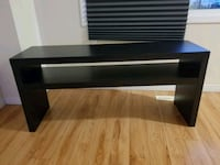 black wooden 2-layer TV stand Edmonton, T6H 2W8