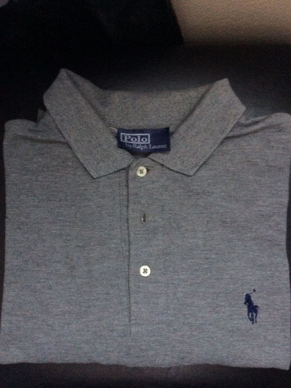Gray ralph lauren polo shirt
