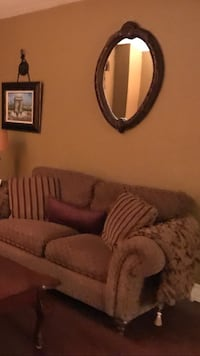 Custom wing chairs and love seat