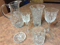 Crystal glass /vase/ pitcher set Laval, H7X 3V9