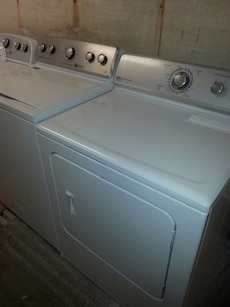 #1474 Maytag heavy duty washer and electric dryer