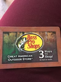 Bass pro shops great american outdoor store gift card  Houston, 77092