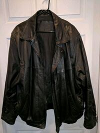 black leather zip-up jacket Brampton, L6S