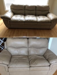 Extra soft leather sofa set  Surrey, V4A 0A1