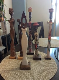 Beautiful collection of wooden figurines. Toronto, M2R 2S8