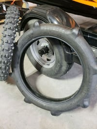 Dirtbike paddled tire and front tire  St. Albert, T8N 7B6