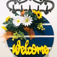Wooden Welcome Door Hanger