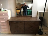 Brown wooden dresser with mirror and two night stands  Brampton, L7A 4X9