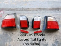 1994-95 Honda Accord Tail lights, no bulbs or wire Carteret, 07008