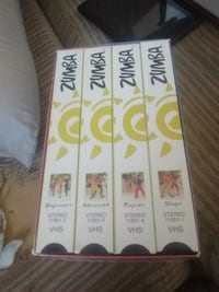 four Zumba VHS cases with box Medicine Hat, T1A 7Y2