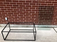 Very beautiful metal and clear glass coffee table