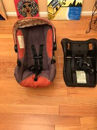 Baby's Orange and Brown Car Seat Carrier, Base and Matching Stroller Bensville, 20603