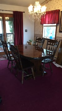 brown wooden chairs and table dining set Wayne, 17922