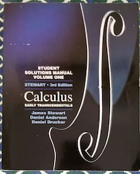 Calculus  Student Solution Manual paperback  Toronto, M9W 3W6
