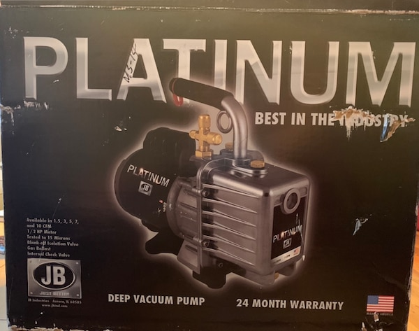 JB Platinum Deep Vacuum Pump Brand New in Box