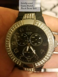 round silver-colored chronograph watch with link bracelet Port Hope, L1A