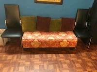 brown and black floral sofa Temple Hills, 20748