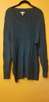 Blue Green Cable Knit Sweater  2275 mi