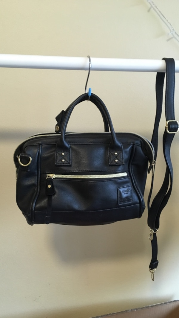 Black PU bag in good quality