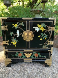 Vintage Oriental Cabinet/Armoire/Side Table