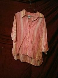 pink and white button-up long-sleeved blouse Lubbock, 79403