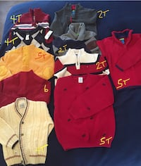 Boys Sweaters (name brand) good quality . 35 mi