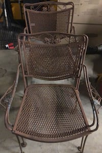 Wrought iron outdoor chairs and side table Norristown, 19403