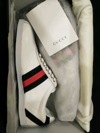 white Gucci Ace Sneakers Womem  size 8 Gaithersburg, 20879