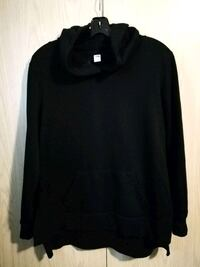 Black Hoodie w/Side Slits *soft* (md-lg)  Red Deer