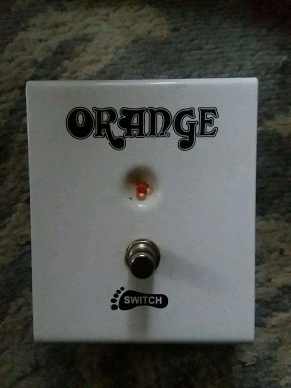 Orange Switch guitar foot pedal