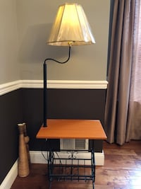 Side end table with lamp