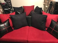 Red & Black Loveseat and Sofa BRAND NEW (Serious Inquiries Only) I DON'T DELIVER