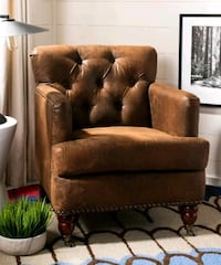 2 Tufted and nailhead sofa chairs Queens, 11428