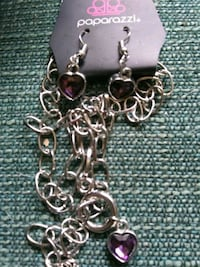 silver chain link necklace with heart pendant Alpena, 49707
