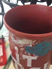 red and white ceramic mug West Valley City, 84119