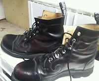 pair of black leather boots Surrey