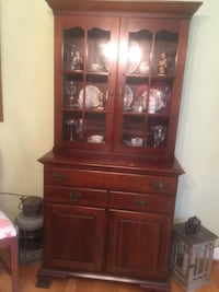 Cherry china cabinet and buffet