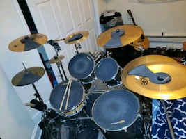 Pearl EXR silver 6 piece drum set