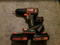 Black and decor cordless drill  3726 km