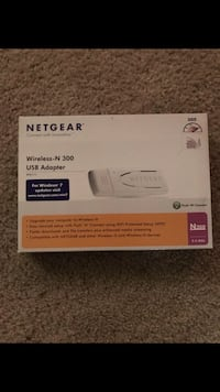 White netgear wireless n 300 usb adapter box Naperville, 60564
