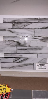 Fusion white polished backsplash  Toronto, M1S 3B1