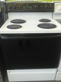 white and black 4-coil electric range oven Clayton, 27520