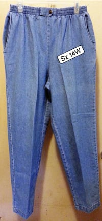 Womens Plus Sz 14W Pull on Jeans