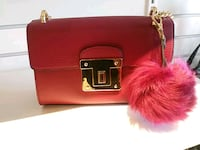 red leather two way bag Hamilton