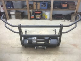 Grill guard and Ramsey winch