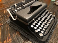 Restored 1937 Royal De Luxe Manual Typewriter with Case.