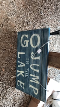 Go jump in the lake sign 600 mi